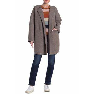 NWT MADEWELL Grey Wool Ivy Long Sweater Coat